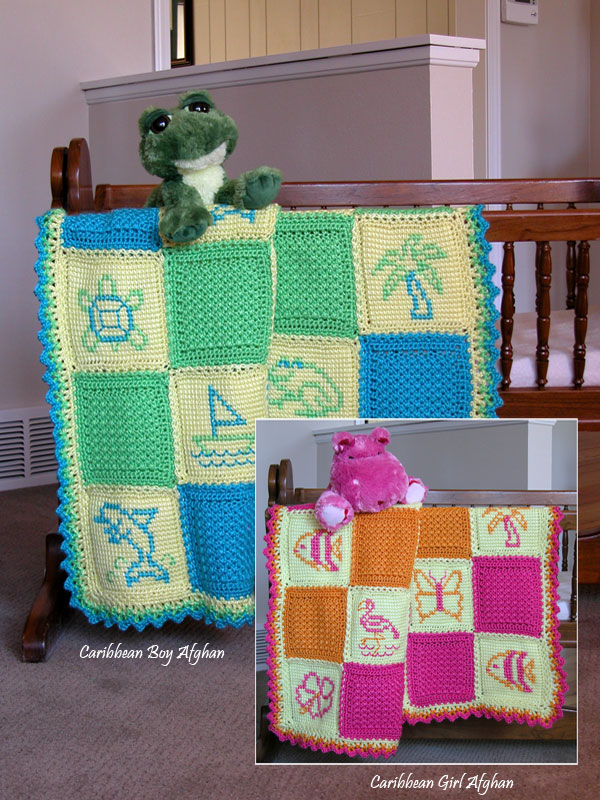 Caribbean Twins Baby Afghans Photo