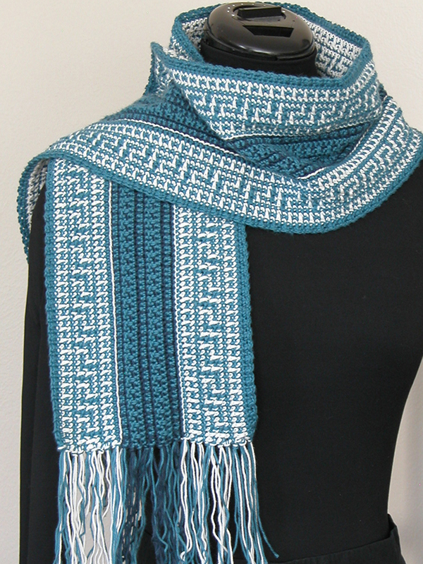 Celtic-Inspired Reversible Scarf Set