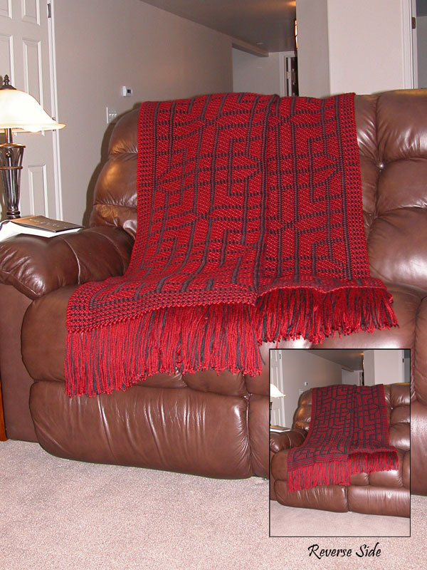 Chinese Lattice Reversible Afghan Photo