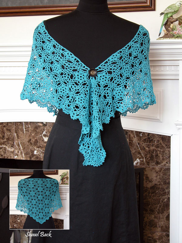 Cool Blue Evening Shawl Photo