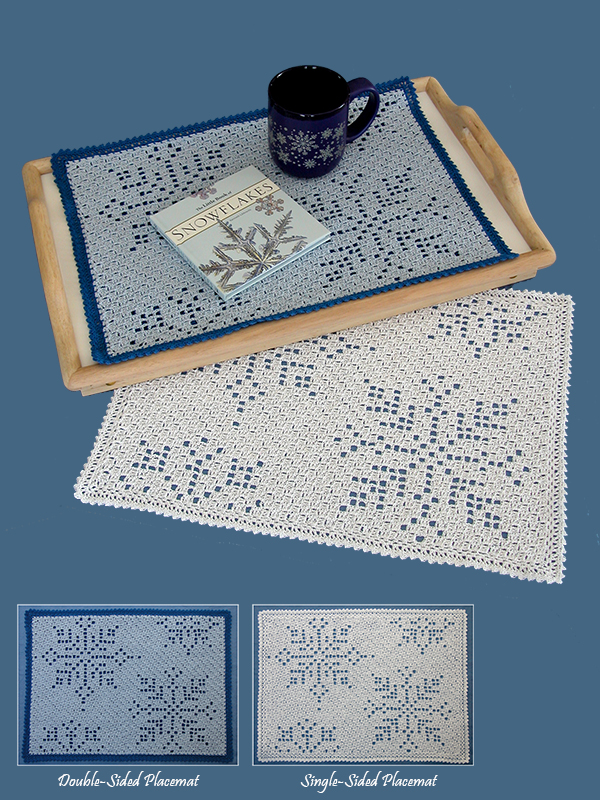 Falling Snow Placemats Photo