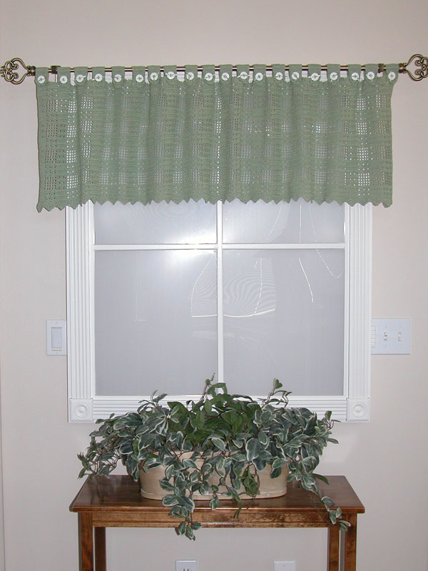Buttoned Gingham Valance Photo