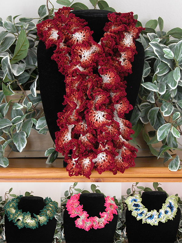 Hawaiian Lei Ruffle Scarf Photo