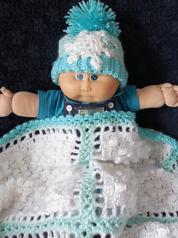 January Snow Baby Afghan Set