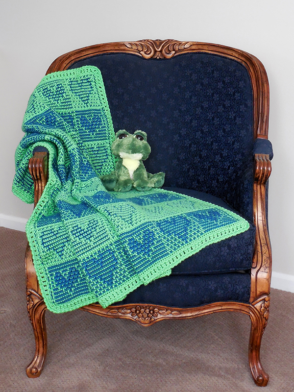 Neon Hearts Baby Afghan Photo