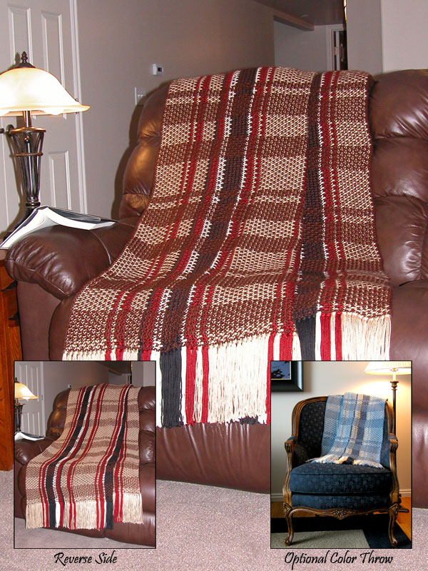Plaid Reversible Afghan