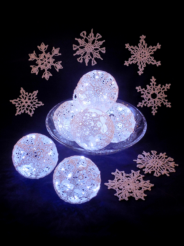 Shimmering Snowflakes Photo