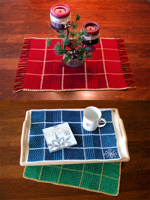 Two-Tone Plaid Placemat Photo