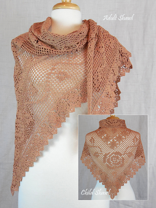 Vintage Rose Motif Shawl Photo