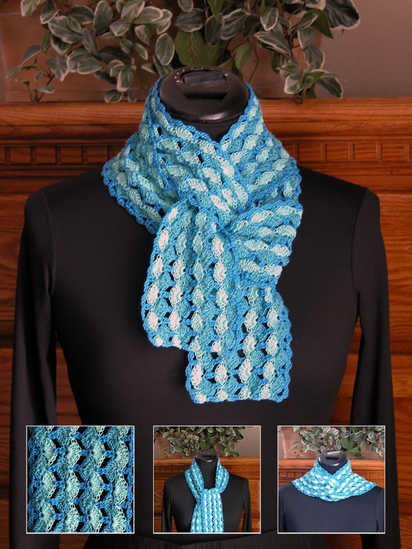 Waves of Blue Scarf Photo