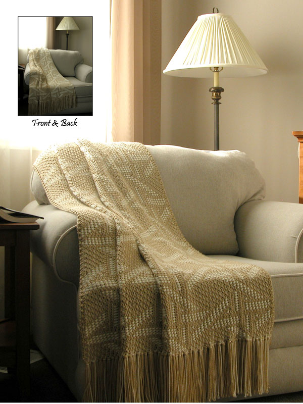 Wicker Wonder Reversible Afghan Photo