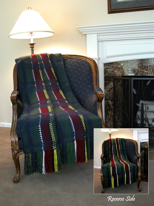 Christmas Plaid Afghan Photo